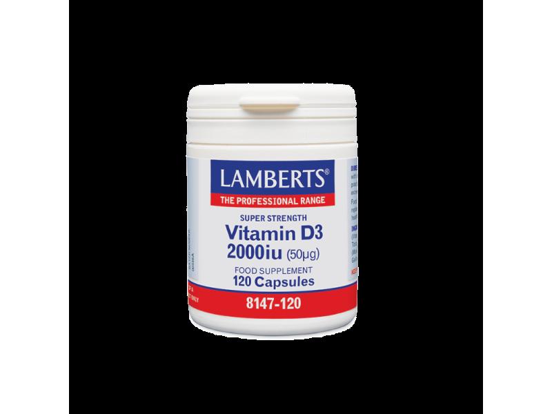 Lamberts Vitamin D3 2000iu 120 Kάψουλες