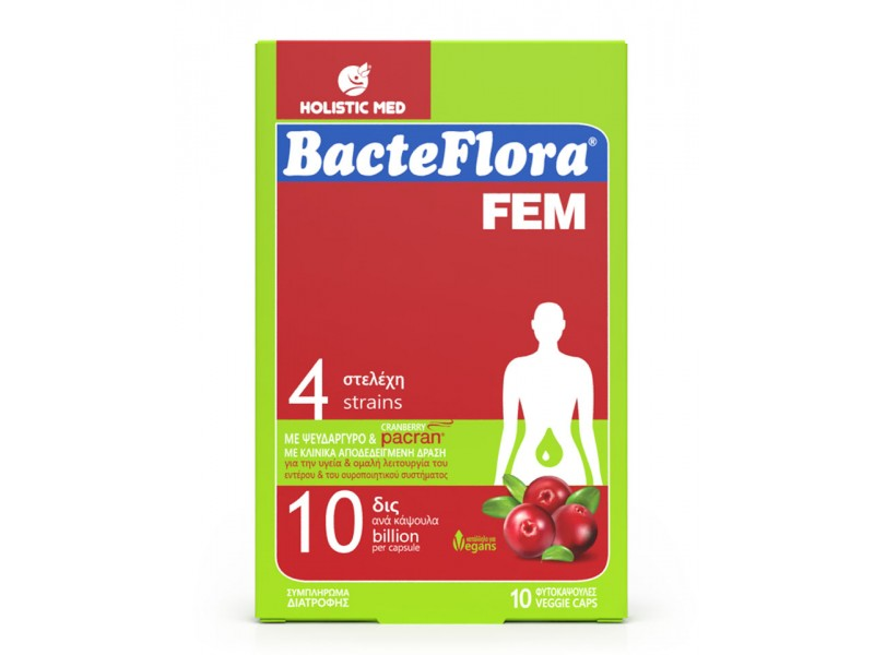 Holistic Med BacteFlora Fem 10 κάψουλες