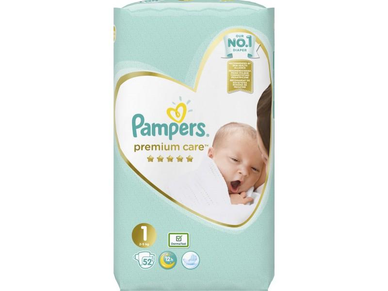 Pampers Premium Care Νo 1 (2-5kg) 52τμχ