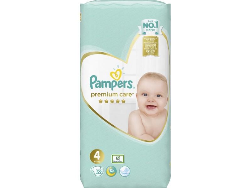 Pampers Premium Care No 4 (9-14kg) 52τμχ