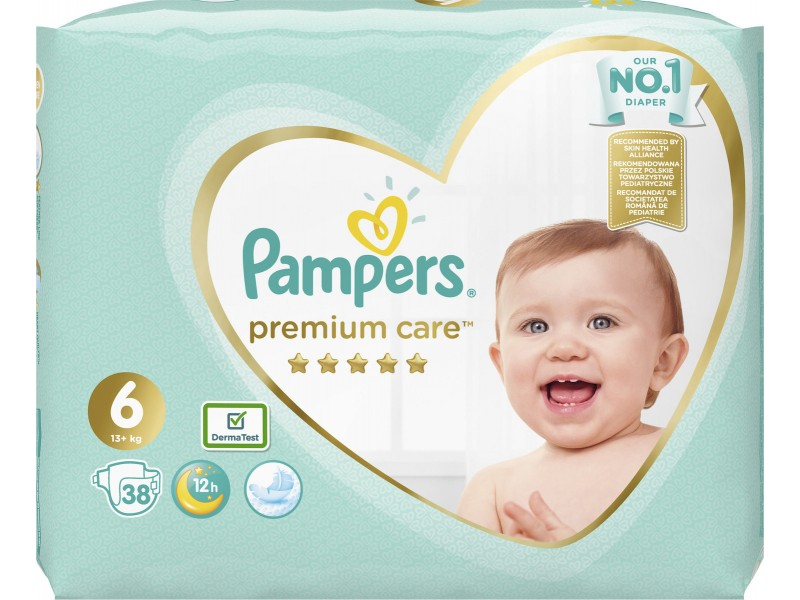 Pampers Premium Care No 6 (13+kg) 38τμχ