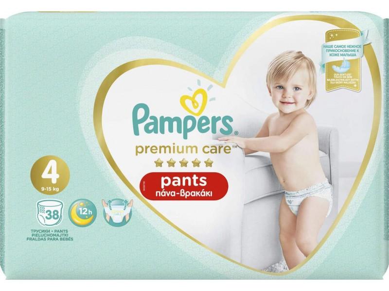 Pampers Premium Care Pants No 4 (9-15Kg) 38τμχ