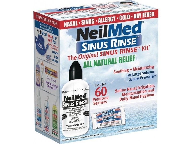 NeilMed Sinus Rinse Kit Ενηλίκων + 60 φακελάκια
