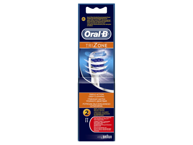 Oral-B TriZone Ανταλλακτικές Κεφαλές 2 τμχ