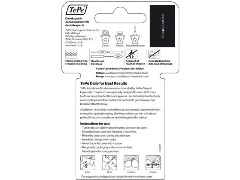 TePe Interdental Brush Κόκκινο Μέγεθος 2 - 0.5mm 8τμχ