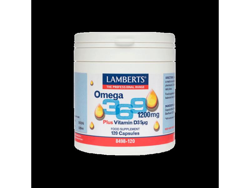 Lamberts Omega 3-6-9 1200mg 120 Κάψουλες
