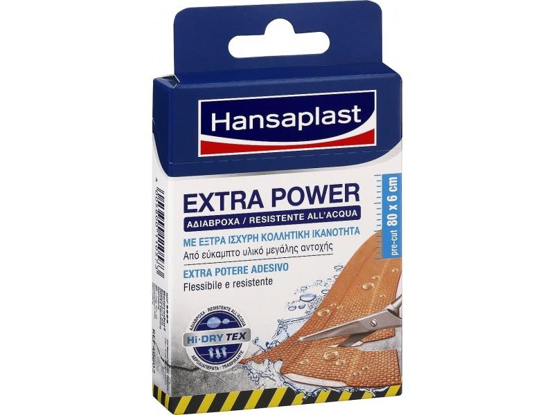 Hansaplast Extra Power Waterproof  80x6cm 8τμχ