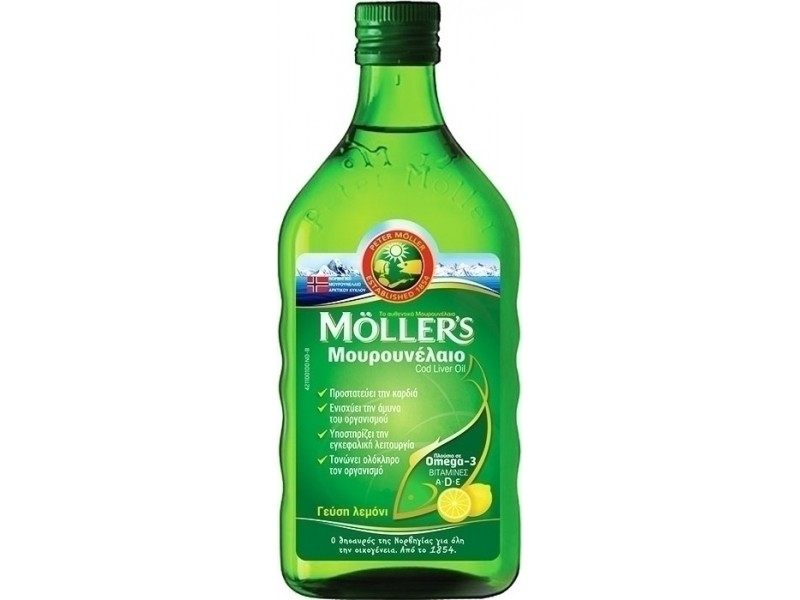 MOLLERS Μουρουνέλαιο 250ml με Γεύση Λεμόνι