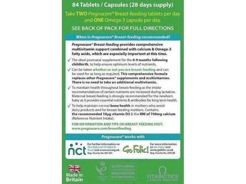 Vitabiotics Pregnacare Breast Feeding 56 ταμπλέτες + 28 κάψουλες