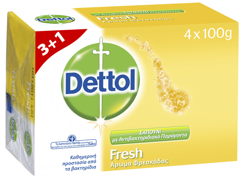 Dettol Fresh Antibacterial Σαπούνι  4 x 100gr