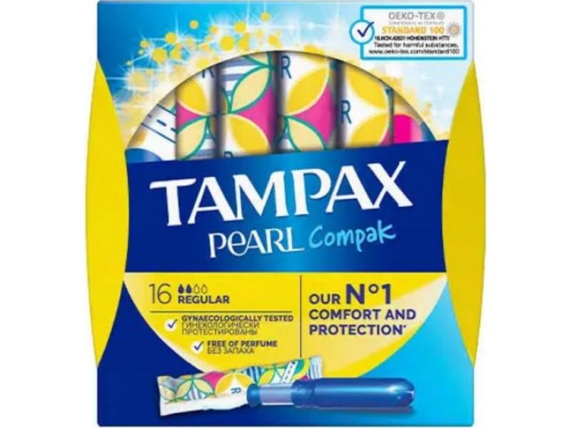 Tampax Compak Pearl Regular 16τμχ