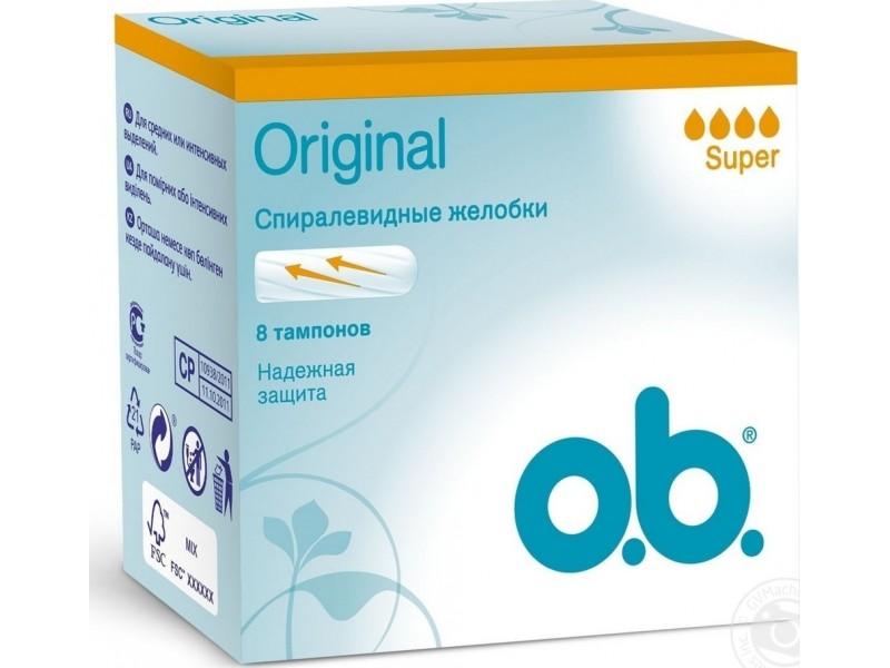 O.B. Original Curved Grooves Super 8τμχ