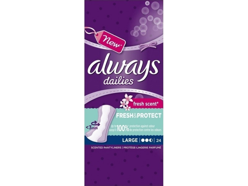 Always Dailies Fresh Scent Fresh & Protect Large 24τμχ