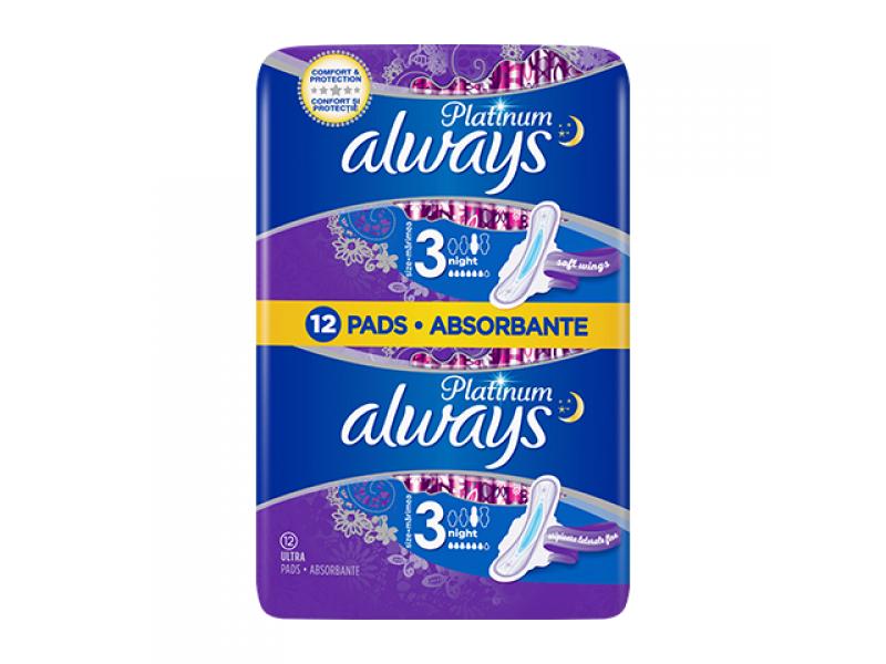 Always Platinum Ultra Night Size 3 -12τμχ