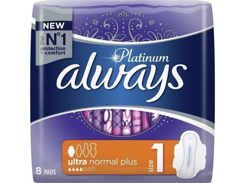 Always Platinum Ultra Normal Plus No1 Wings 8τμχ