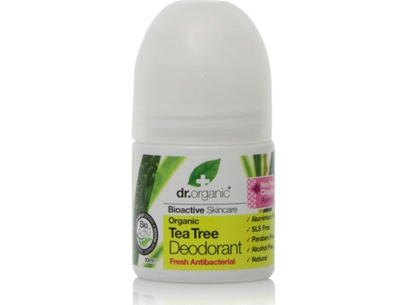 Dr.Organic Organic Tea Tree Αποσμητικό Roll-On 50ml