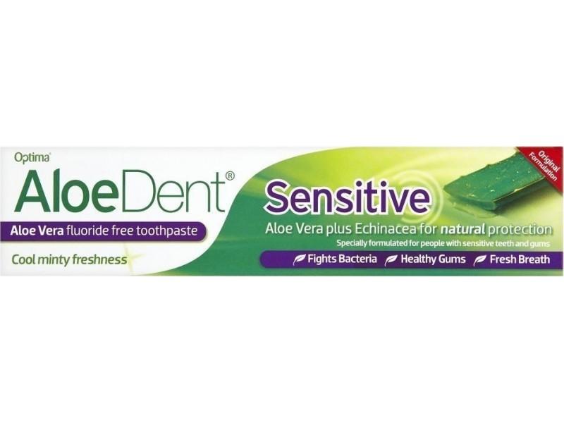 Optima AloeDent Sensitive  Οδοντόκρεμα για Ευαίσθητα Δόντια και Ούλα 100ml(+ΔΩΡΟ ΟΔΟΝΤΟΒΟΥΡΤΣΑ)