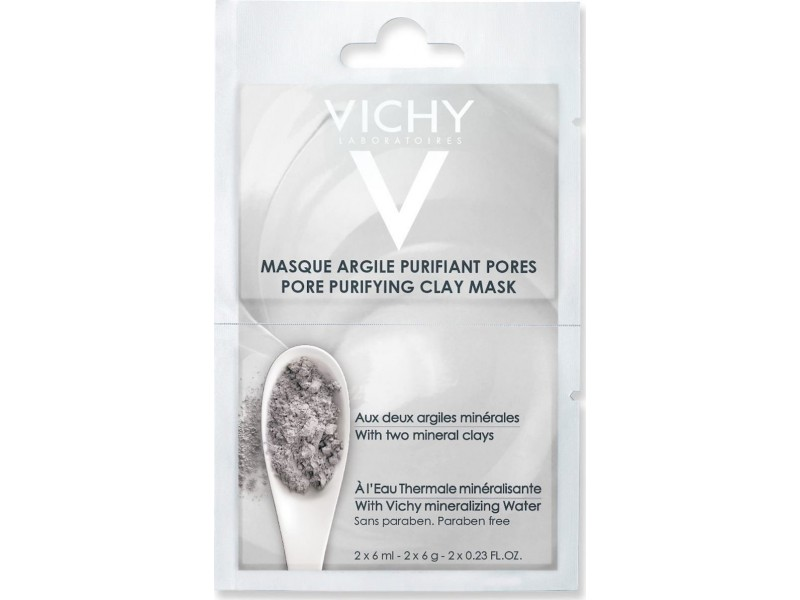 Vichy Pore Purifying Clay Mask With Two Mineral Clays 2x6ml