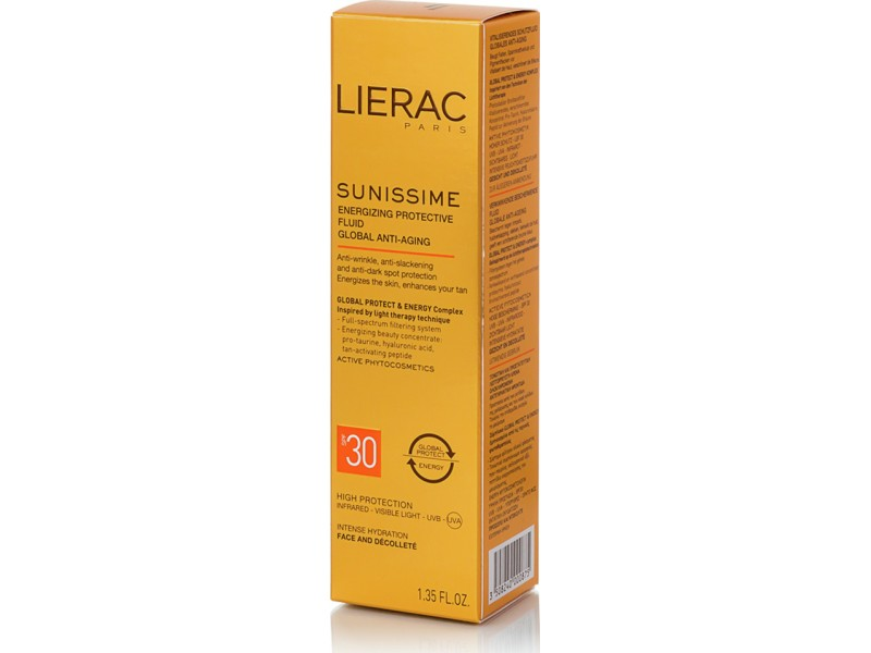 Lierac Sunissime Energizing Protective Fluid Global Anti Aging SPF30 40 ml