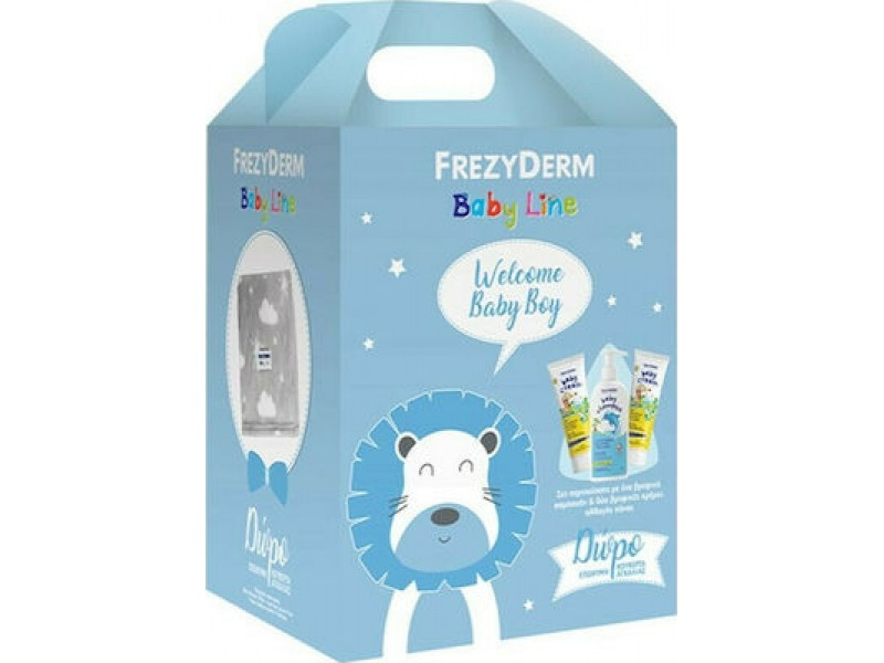 Frezyderm Welcome Baby Boy Set  Baby Shampoo 300ml, Baby Cream 2x175ml & Κουβέρτα Αγκαλιάς