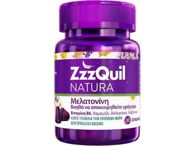 ZzzQuil Natura Συμπλήρωμα Διατροφής με Μελατονίνη 30 ζελεδάκια