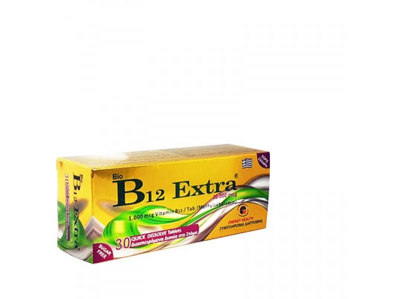 Medichrom Bio B12 Extra 1000mg 30 Διασπειρόμενα Δισκία