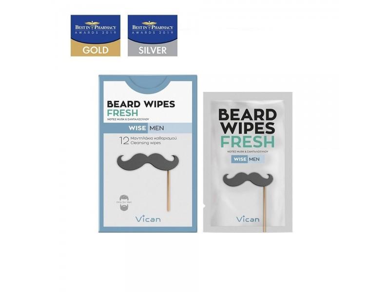 VICAN WISE MEN - BEARD WIPES FRESH