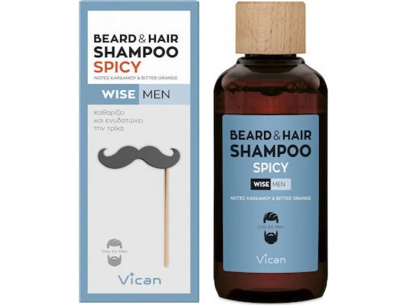 VICAN WISE MEN - BEARD & HAIR SHAMPOO SPICY