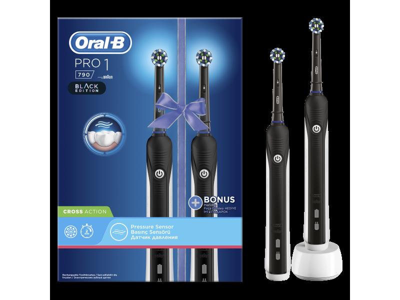 Oral-B Pro 1 790 Black Edition Cross Action 1 & 1 Λαβή Δώρο