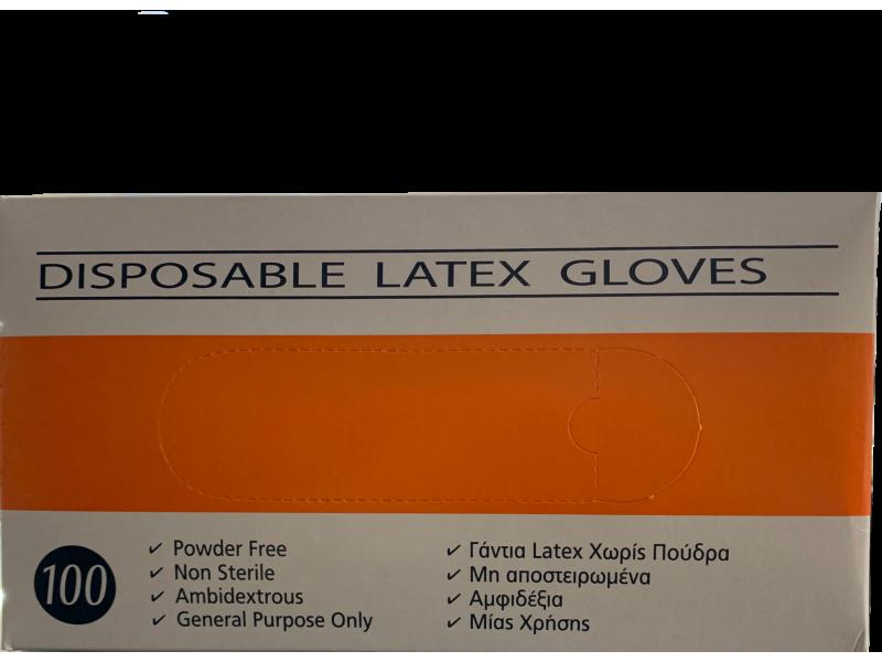 Γάντια Latex Χωρίς Πούδρα x100-SMALL
