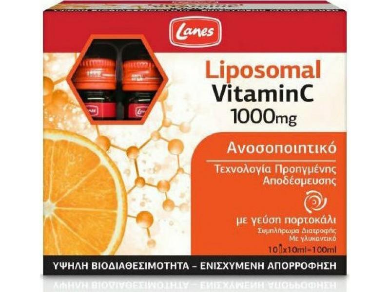Lanes Liposomal Vitamin C Πορτοκάλι 1000mg 10x10ml