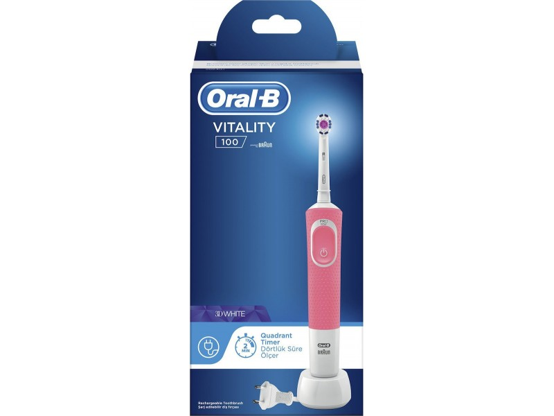 Oral-B Vitality 100 3D Λευκό-Ροζ