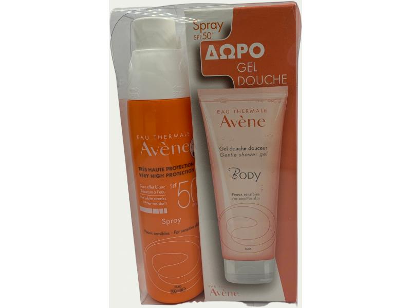 Avene Spray SPF50 200ml Open & Stop +ΔΩΡΟ Body Shower Gel 100ml