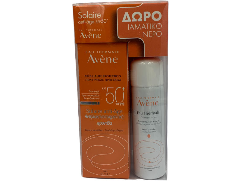 Avene Eau Thermale Solaire Anti Age Dry Touch SPF 50+ 50ml+ΔΩΡΟ Eau Thermale Spray 50ml