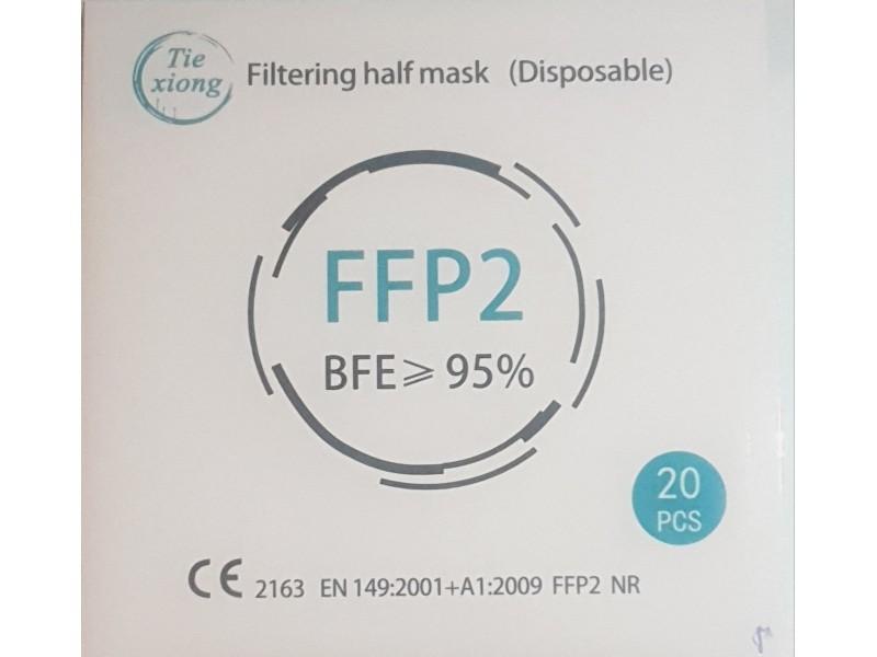 Μάσκα FFP2(KN95) Μαύρη-1 τμχ.