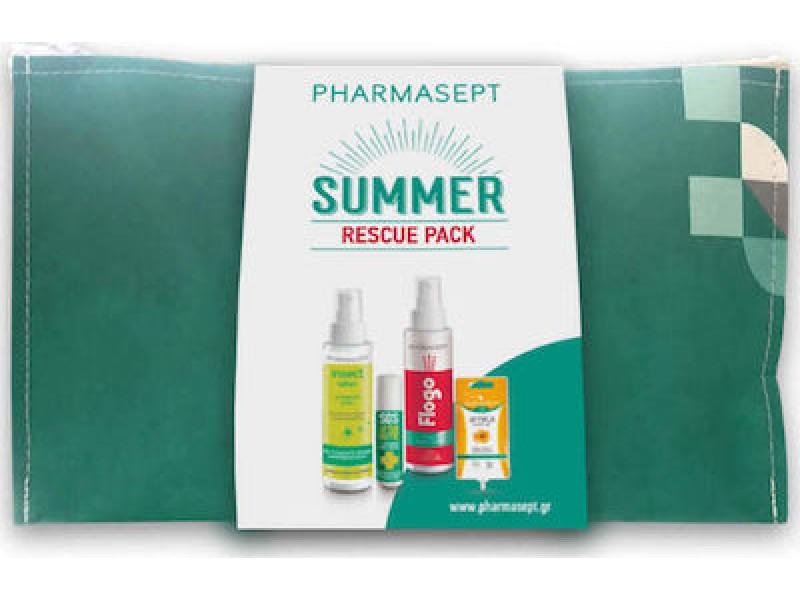 Pharmasept Summer Rescue Pack Insect lotion 100ml, SOS After Bite 15ml, Flogo Instant Calm Spray 100ml & Arnica Cream Gel 15ml