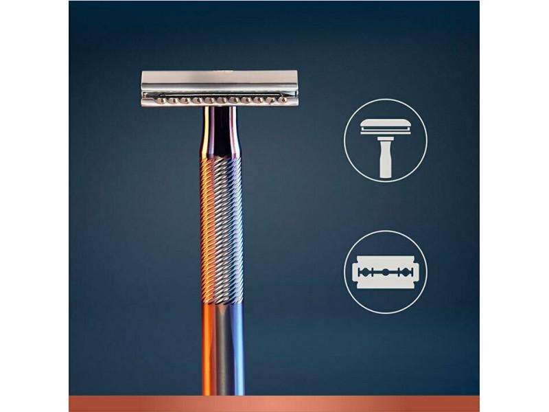 Gillette King C Ξυριστική Μηχανή με Διπλό Άκρο και 5 κεφαλές