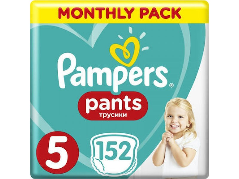 Pampers Pants No 5 (12-17kg) Monthly Pack 152τμχ