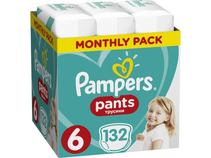 Pampers Pants Νο 6 (15+kg) 132τμχ